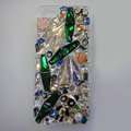 Swarovski crystal cases Bling Panda diamond cover for iPhone 5S - Green