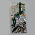 Swarovski crystal cases Bling Panda diamond cover skin for iPhone 5S - Green