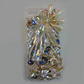 Swarovski crystal cases Bling Swan diamond cover for iPhone 5S - White