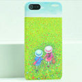 Ultrathin Matte Cases Lovers Hard Back Covers for iPhone 5S - Green