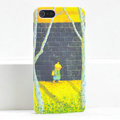 Ultrathin Matte Cases School boy Hard Back Covers for iPhone 5S - Yellow