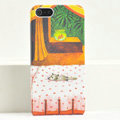 Ultrathin Matte Cases Sleep cat Hard Back Covers for iPhone 5S - Orange