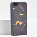 Ultrathin Matte Cases Sleep girl Hard Back Covers for iPhone 5S - Black
