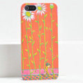 Ultrathin Matte Cases Sunflower boy Hard Back Covers for iPhone 5S - Orange