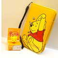 Winnie the Pooh Side Flip leather Case Holster Cover Skin for iPhone 5S - Yellow