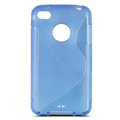 s-mak translucent double color cases covers for iPhone 5S - Blue