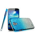 Imak Colorful raindrop Case Hard Cover for Samsung GALAXY NoteIII 3 - Gradient Blue (High transparent screen protector)