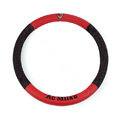 AC Milan Auto Car Steering Wheel Cover PU Leather Diameter 15 inch 38CM Sport - Red