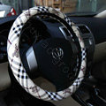 Burberry Auto Car Steering Wheel Cover PU Leather Knight Diameter 15 inch 38CM - Beige