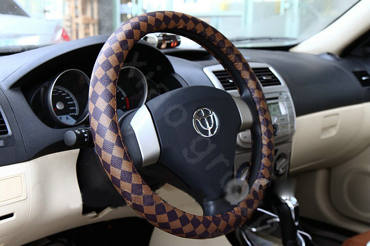 Buy wholesale burberry auto car steering wheel cover pu - Burberry fabric for car interior ...