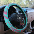 Elephant Auto Car Steering Wheel Cover Rubber Stripe Diameter 15 inch 38CM - Blue