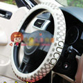 Gucci Auto Car Steering Wheel Cover Rubber Black Diameter 15 inch 38CM - Black
