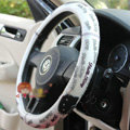Hello Kitty Auto Car Steering Wheel Cover Rubber Alphabet Diameter 15 inch 38CM - White