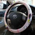Hello Kitty Auto Car Steering Wheel Cover Rubber Point Diameter 15 inch 38CM - Pink