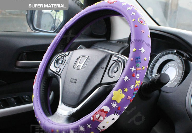 Buy Wholesale Hello Kitty Auto Car Steering Wheel Cover Rubber Beans Diameter 15 Inch 38cm