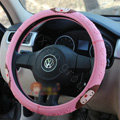 Mocmoc Auto Car Steering Wheel Cover Rubber Note Diameter 15 inch 38CM - Pink