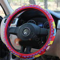 Mocmoc Auto Car Steering Wheel Cover Rubber Note Diameter 15 inch 38CM - Red
