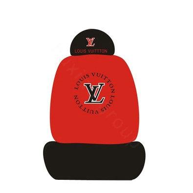 buy wholesale lv louis vuitton universal auto car seat cover set cotton 10pcs black red car. Black Bedroom Furniture Sets. Home Design Ideas