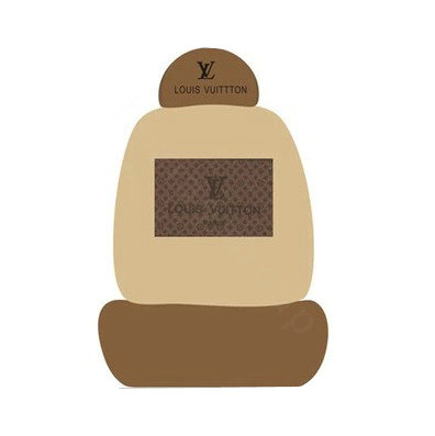 buy wholesale lv louis vuitton universal auto car seat cover set cotton 10pcs coffee brown. Black Bedroom Furniture Sets. Home Design Ideas