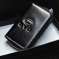 BYD Logo Auto Key Bag Pocket Genuine Leather Car Key Case Holder Cover Key Chain - Black
