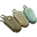 Nasili Porsche Logo Auto Key Bag Pocket Genuine Leather Car Key Case Holder Cover Key Chain - Blue