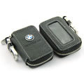 Nasili Skylight BMW Logo Auto Key Bag Genuine Leather Pocket Car Key Case Cover Key Chain - Black