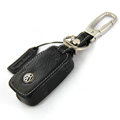 Nasili Volkswagen Logo Automobile Key Bag Pocket Genuine Leather Car Key Case Holder Cover Key Chain - Black
