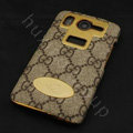 Gucci leather Case Hard Back Cover for HTC Desire HD A9191 G10 - Brown