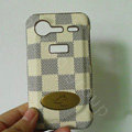LV classic plaid leather Case Hard Back Cover for HTC Incredible S S710E G11 - Beige