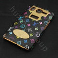 LV leather Case Hard Back Cover for HTC Desire HD A9191 G10 - Black