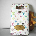 LV leather Case Hard Back Cover for HTC Touch HD2 - White