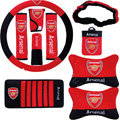 Arsenal Car Use Interior Decoration Auto Inner Artificial Plush Full Set 10pcs - Red