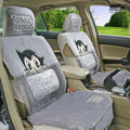 Astro boy Thicker Universal Auto Car Seat Covers Cushion Short plush Full Set - Gray