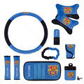 Barcelona Car Use Interior Decoration Auto Inner Artificial Plush Full Set 10pcs - Blue