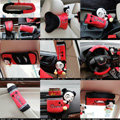 Coola Diffe Car Use Interior Decoration Auto Inner Short plush Full Set 12pcs - Red