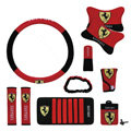 Ferrari Car Use Interior Decoration Auto Inner Artificial Plush Full Set 10pcs - Red