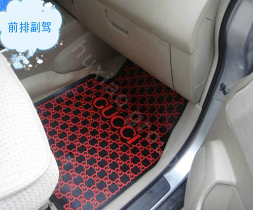 buy wholesale gucci universal automobile carpet car floor mats set rubber waterproof 5pcs sets. Black Bedroom Furniture Sets. Home Design Ideas