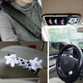 Genuine Mickey Mouse Auto Car Use Interior Decoration Leather Cotton Full Set 5pcs - Black