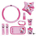 Hello Kitty Car Use Interior Decoration Auto Inner Plush Full Set 10pcs - Pink