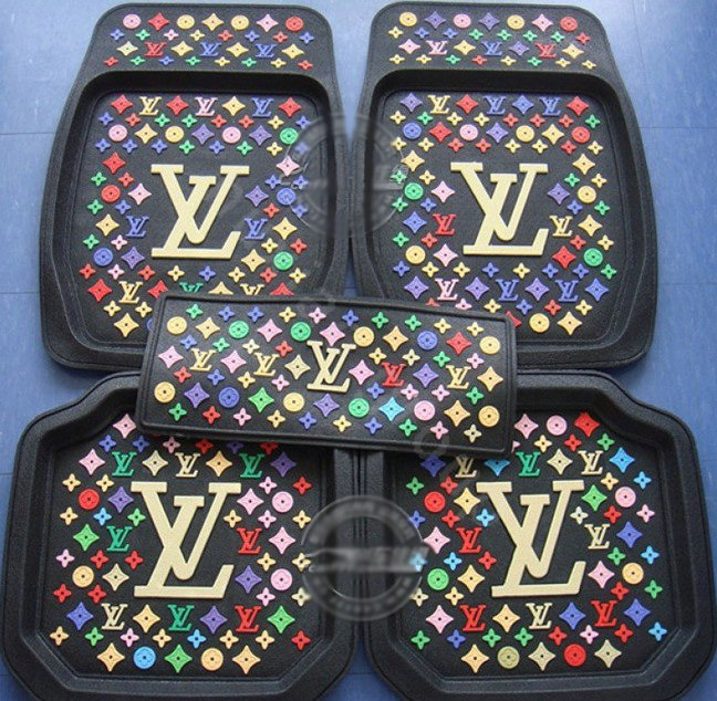 buy wholesale lv universal automobile carpet car floor mats set rubber louis vuitton 5pcs sets. Black Bedroom Furniture Sets. Home Design Ideas