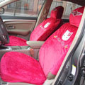 100% brand Hello Kitty KT220 Universal Automobile Car Seat Cover Plush fabrics 10pcs - Rose