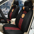 OULILAI Manchester United Universal Automobile Car Seat Cover Sandwich 18pcs - Black