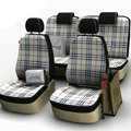 Burberry Customized Cotton Cloth Auto Car Seat Covers 8pcs Sets for Vehicle - Beige