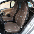 Canvas Customized Cotton Cloth Auto Car Seat Covers 2pcs Sets for Benz Smart - Brown