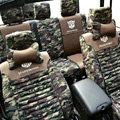 Transformers Autobot Customized Camo Auto Car Seat Covers 10pcs Sets for Jeep Cherokee - Green