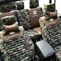 Transformers Autobot Customized Camo Auto Car Seat Covers 10pcs Sets for Jeep Grand Cherokee - Green