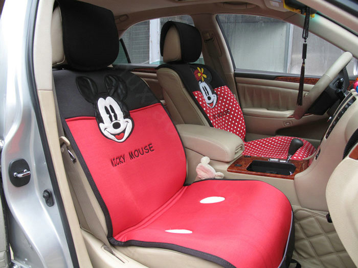 buy wholesale universal mickey minnie mouse car seat cover plush auto cushion 7pcs sets red. Black Bedroom Furniture Sets. Home Design Ideas