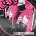 Universal Plush Velvet Hello Kitty Polka Dots print Auto Car Seat Cover 10pcs Sets - Rose