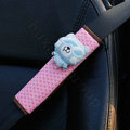 Best Cartoon Carinono Bear Velvet Automotive Seat Safety Belt Covers Car Decoration 2pcs - Pink