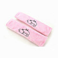 Cheapest Cartoon Mashimaro Velvet Automotive Seat Safety Belt Covers Car Decoration 2pcs - Pink